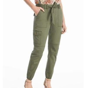White House Black Market Pants - White House Black Market Green Cargo Jogger Pants